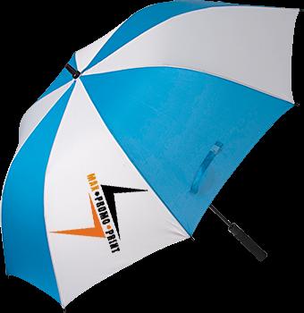 Regenschirm, 8 Farbflächen blau und weiß